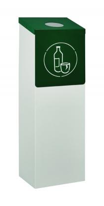 Corbeille - Container à roulettes pour verre