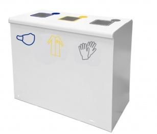 Hygiène et protection - Corbeille de recyclage 3 compartiments