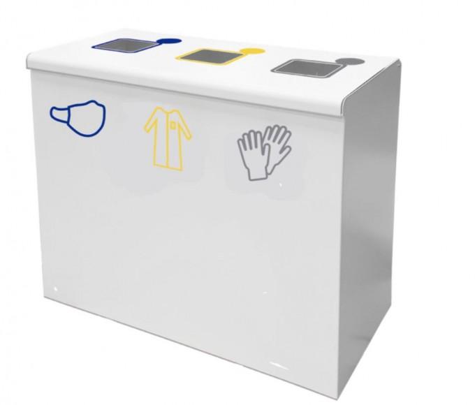 Corbeille de recyclage 3 compartiments