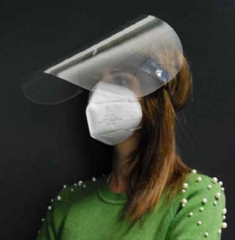 Ecran de protection faciale amovible
