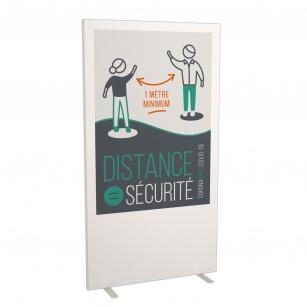 Cloison d'information - Cloison d'information gardez vos distances