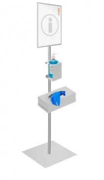 Hygiène et protection - Présentoir et Distributeur de gel et de gants