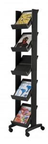 Affichages et présentoirs entreprises - Présentoir mobile corner 5 Tablettes