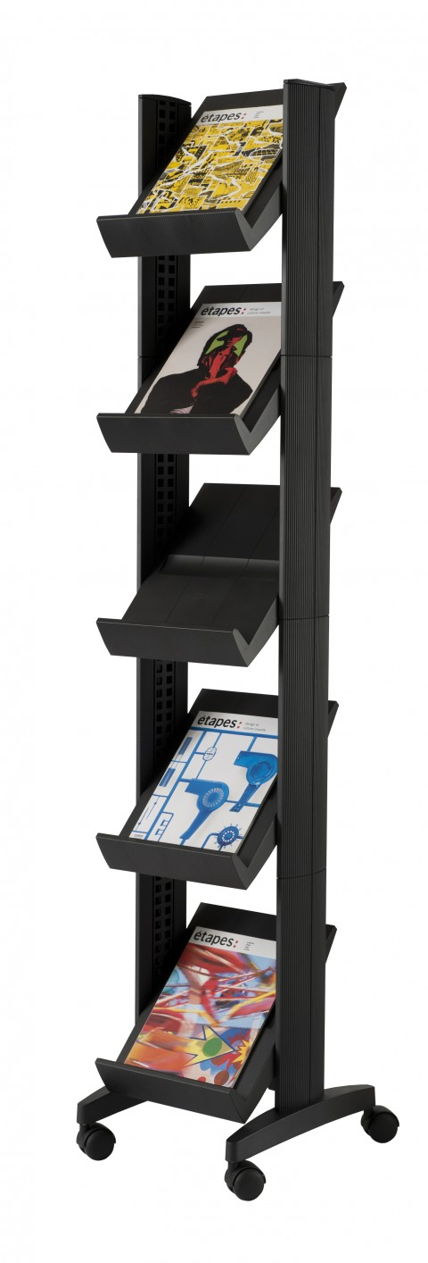 Présentoir mobile corner 5 Tablettes