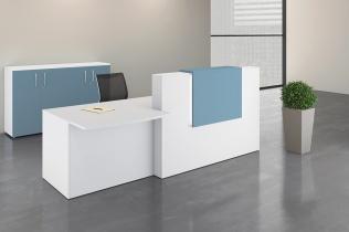 Mobilier Banque d'accueil - Banque d'accueil ADELIS PMR côté Stratifié antibactérien