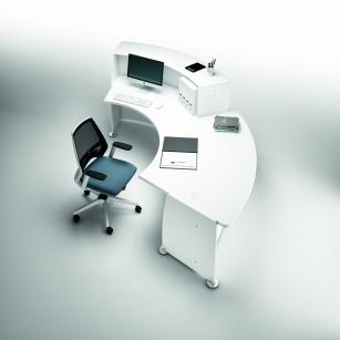 Comptoir - Banque d'accueil Glassy + Accès PMR