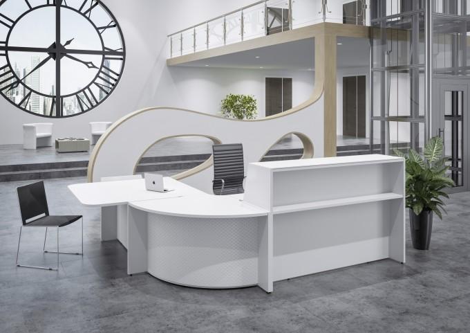 Banque d'accueil Hello avec angle et PMR