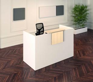Mobilier Banque d'accueil - Banque d'accueil Sélect Modèle U, tablette mélaminé