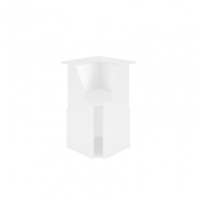 Module d'angle 90° Muse blanc