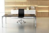 Bureau Design - Bureau de Direction en verre Rock 4 180 x 80 cm
