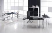 Bureau professionnel - Bureau en verre Rock 4 160 cm x 80