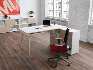 Bureau Home office - Bureau avec rangement Nature Wood