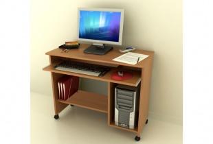 Bureau Home office - Meuble informatique sur roulettes
