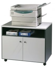 Armoire bois - Meuble mobile pour photocopieur