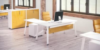 Bureau individuel - Bureau avec retour EXTRA