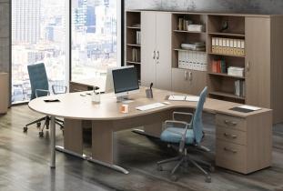 Bureau individuel - Bureau compact Curvy