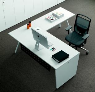 Bureau individuel - Bureau avec retour Kompas