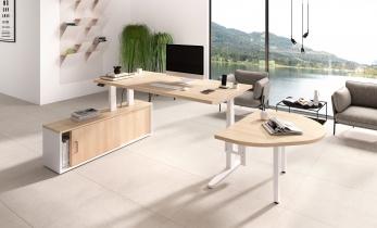 Bureau réglable en hauteur - Bureau assis-debout sur crédence COMBO