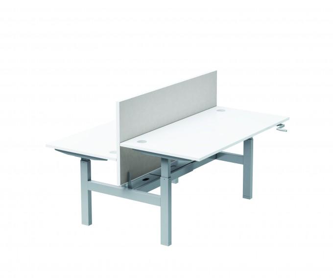 Bureau Bench 2 pesonnes réglable en hauteur par manivelle Classic