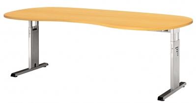 Bureau réglable en hauteur - Bureau réglable en hauteur courbe Osmose