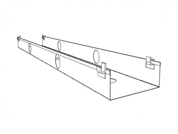 Goulotte horizontale pour poste double