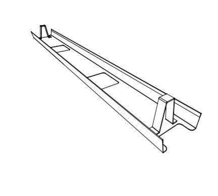 Goulotte horizontale pour poste simple