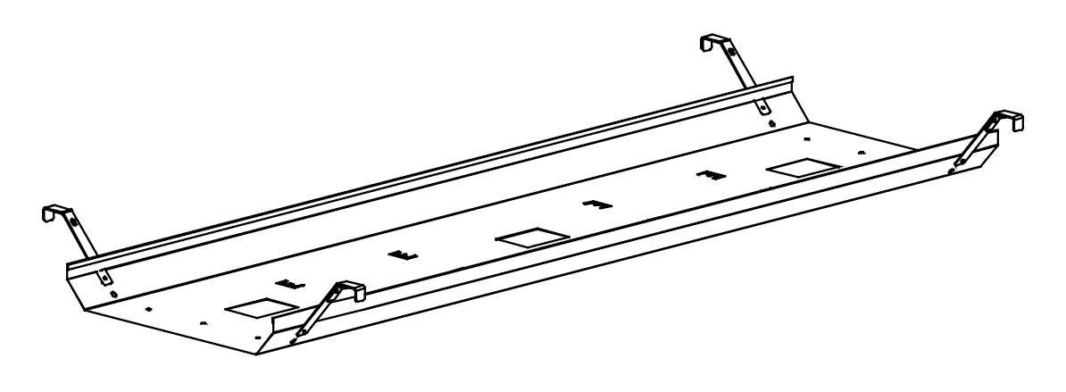 Goulotte passe-câbles pour Bureaux Bench GENESIS