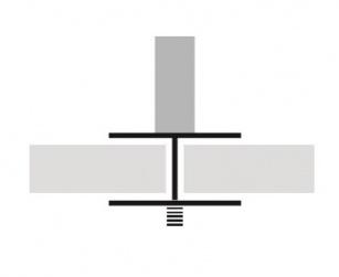 jeu de pinces - Jeu de pinces médianes pour panneau écran tissu avec ou sans réhausse