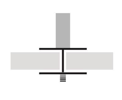 Jeu de pinces médianes pour panneau écran tissu avec ou sans réhausse