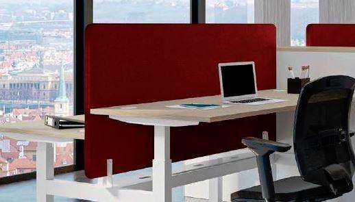 Panneau acoustique pour bureau Bench Assis-debout TOP & DOWN