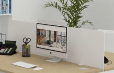 Panneau écran frontal en plexi pour bureaux  Astral, indus et Atmosphéric