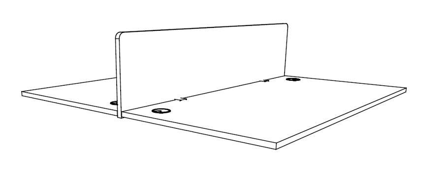 Panneau écran frontal pour bureaux Bench ASTRAL et INDUS