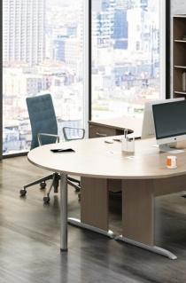 Retours, angles de liaison, extensions - Extension pour deux bureaux compact Curvy