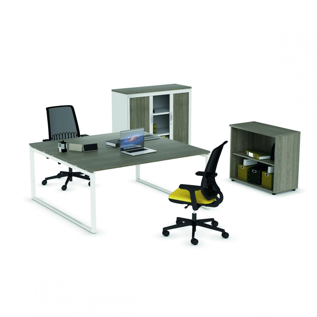 Bureau 2 personnes bureau bench akka 2 personnes for Bureau design 2 personnes