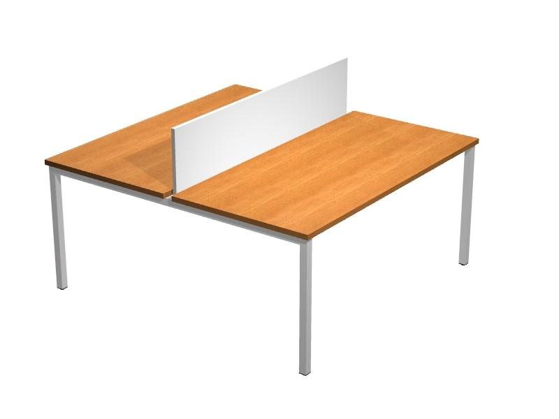 Bureau bench budget prof 60 2 personnes achat bureaux for Bureau 60 cm de longueur