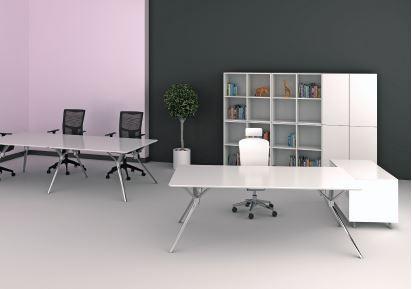 Bureau blanc laqué gloss achat bureaux de direction 1 235 00u20ac