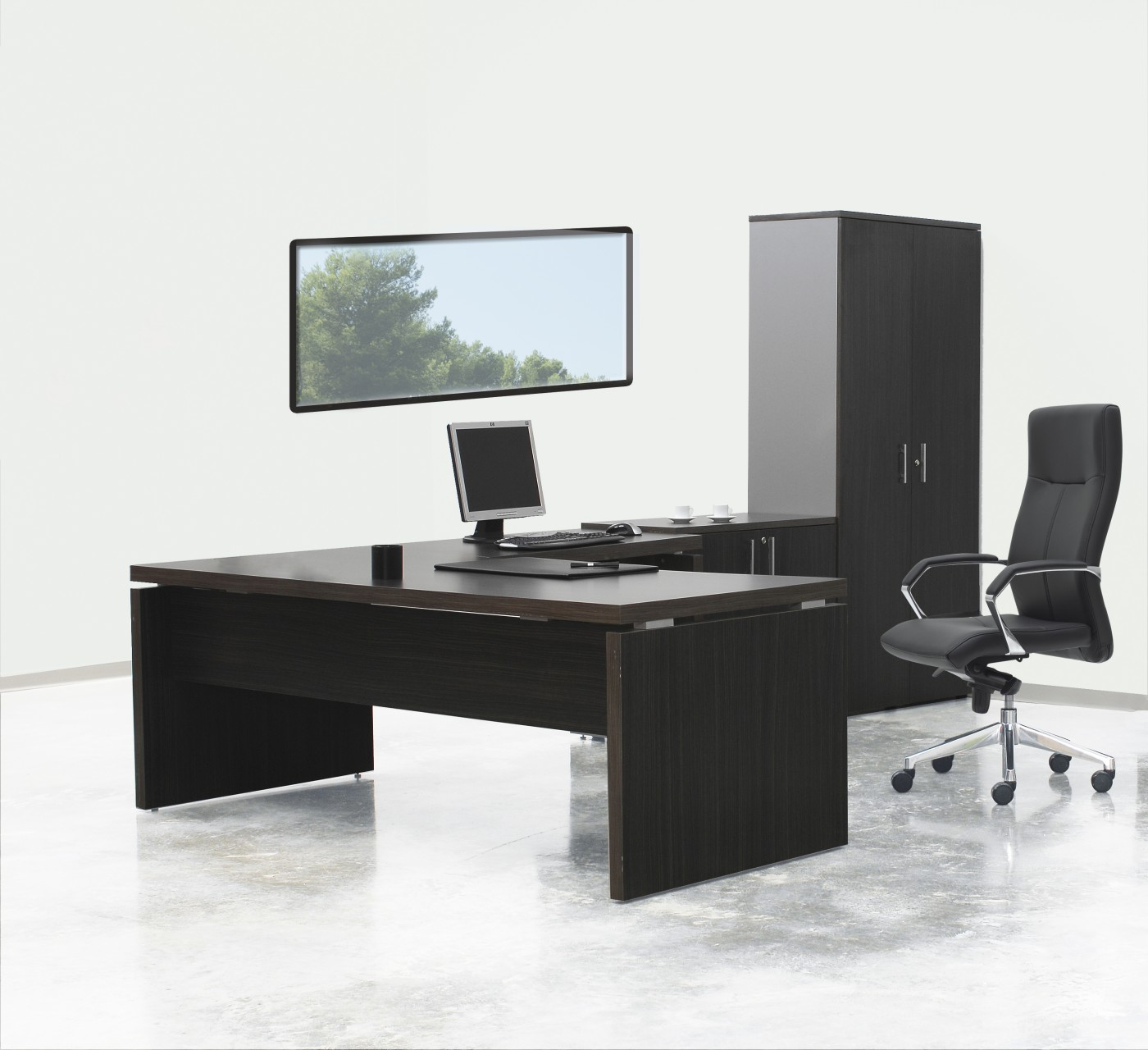 bureau de direction delta achat bureaux d 39 angle 845 00. Black Bedroom Furniture Sets. Home Design Ideas