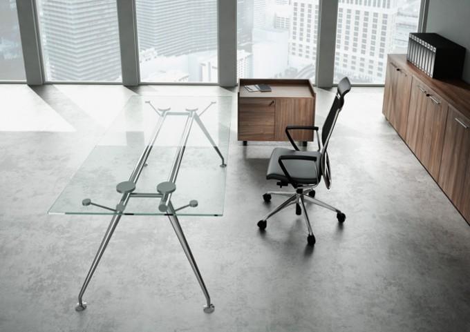 bureau de direction en verre status achat bureaux de direction 1 815 00. Black Bedroom Furniture Sets. Home Design Ideas