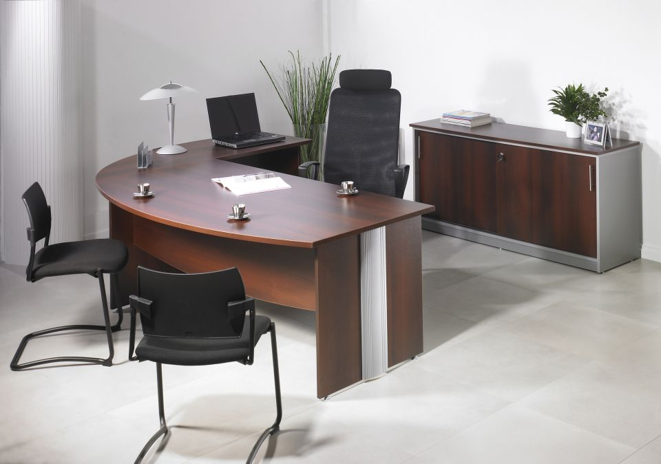 Bureau de direction majesty achat bureau professionnel for Mobilier bureau professionnel