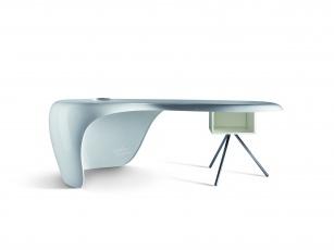 Bureau d angle arrondi modern kokoon design à chez recoll