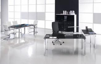Bureau Design - Bureau en verre Rock 4 160 cm x 80