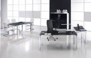 Bureaux professionnels - Bureau en verre Rock 4 160 cm x 80