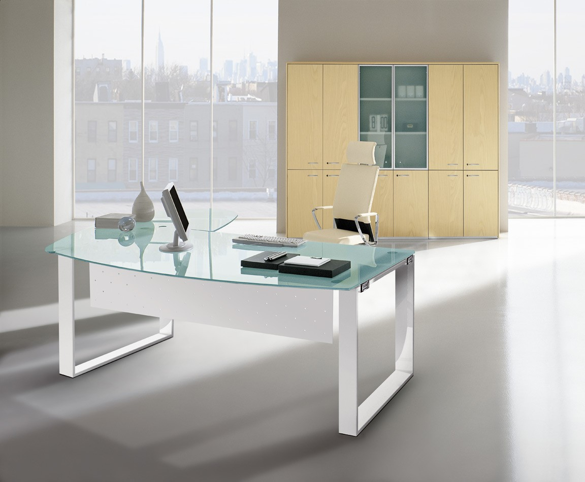 bureau en verre x time manager achat bureaux de direction 2 199 00. Black Bedroom Furniture Sets. Home Design Ideas