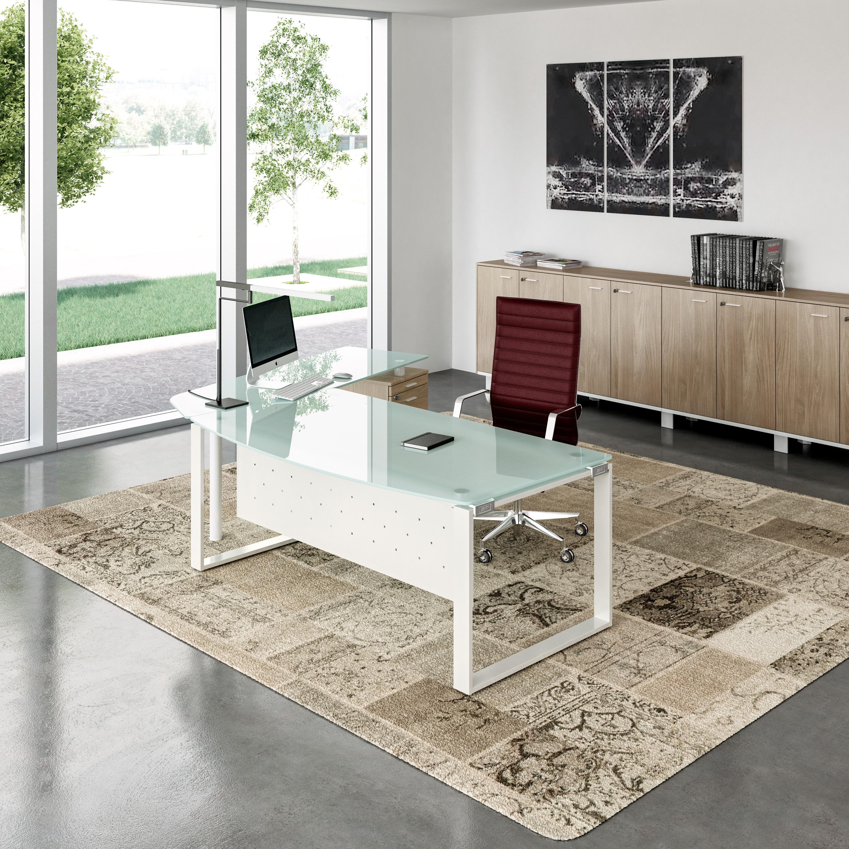 Bureau En Verre X Time Manager Achat Bureau Design 2 199 00  # Bureau Design Verre