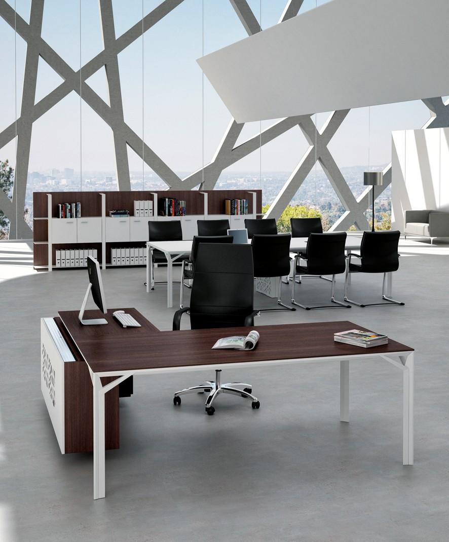 bureau roma avec caisson et conteneur dos m tal achat bureaux de direction 2 539 00. Black Bedroom Furniture Sets. Home Design Ideas