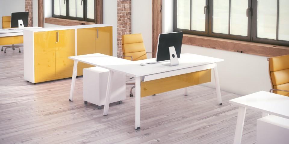 bureau avec retour extra. Black Bedroom Furniture Sets. Home Design Ideas