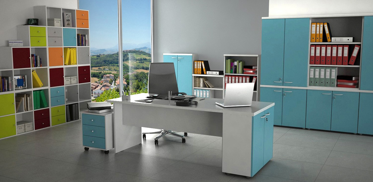 bureau budget color achat bureaux individuels 112 00. Black Bedroom Furniture Sets. Home Design Ideas