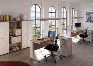 Bureaux compacts - Bureau Zenius avec caisson