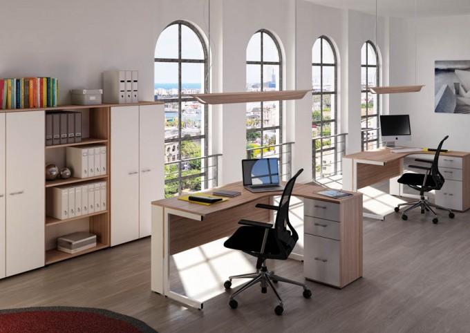 bureau zenius avec caisson achat bureau professionnel pas cher 325 00. Black Bedroom Furniture Sets. Home Design Ideas