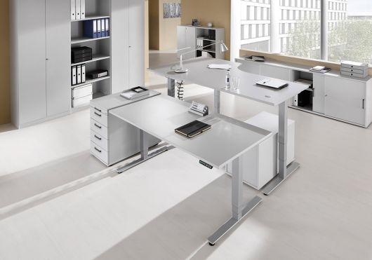 bureau assis debout lectrique adapt achat bureaux r glables en hauteur 1 059 00. Black Bedroom Furniture Sets. Home Design Ideas
